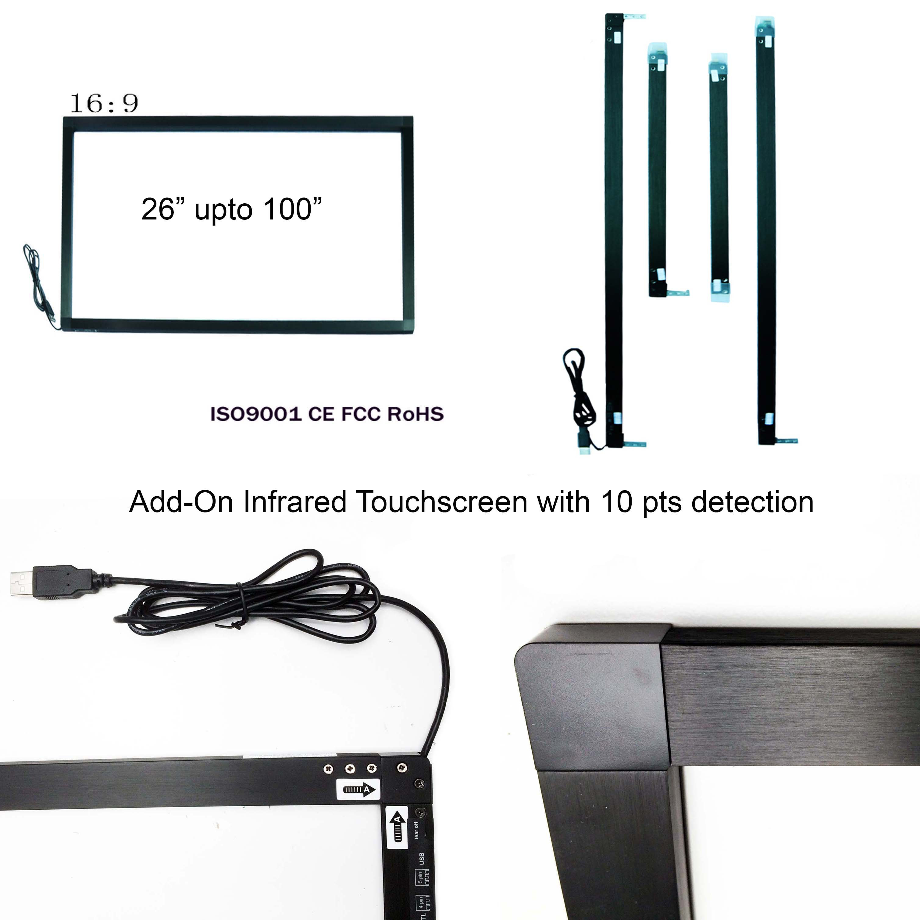 Add-On infrared touchscreens
