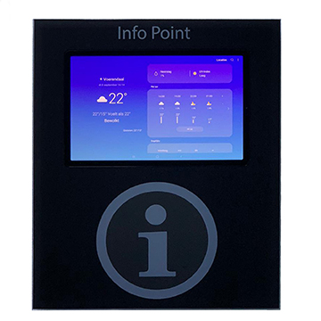 small on wall mount kiosk 10.5 android pc