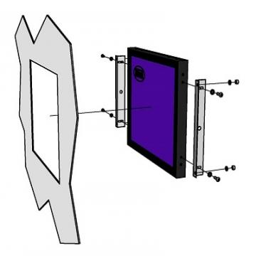 rear mount touchscreen monitor