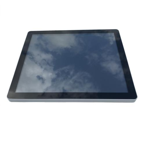 touchscreen monitor on wall mount 17 inch front
