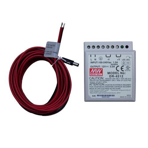 dinrail psu monitors incl cable 5m