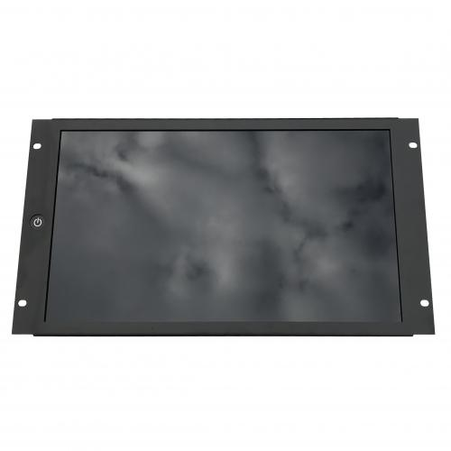 18.5 inch monitor in 19inch rackmount - front
