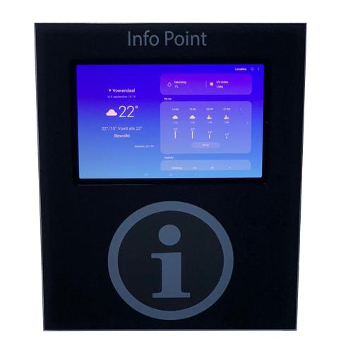pcap touchscreen kiosk small front