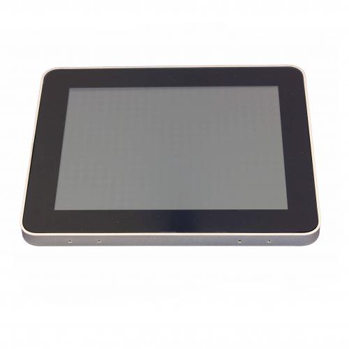 touchscreen monitor on wall mount 8 inch front