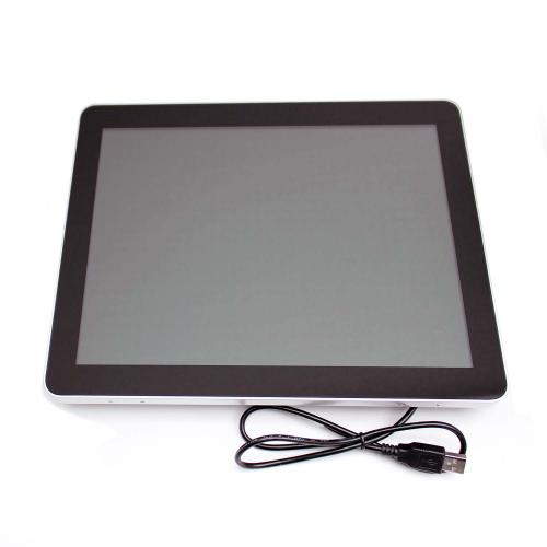 touchscreen monitor on wall mount 19 inch front